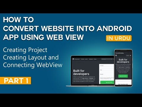 How To Convert Website Into Android App Part 1   Creating Project And Setup WebView