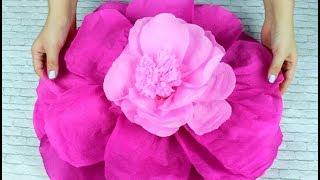 Flores De Papel Crepe Grandes Faciles De Hacer