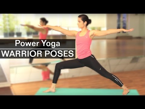 POWER YOGA WARRIOR POSES 1 2 3