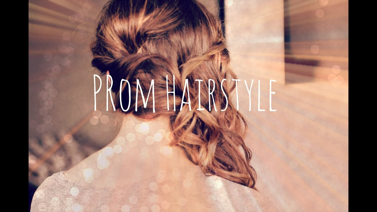 Prom Classic Curled Side Swept Hair  YouTube - Curly Prom Hairstyles