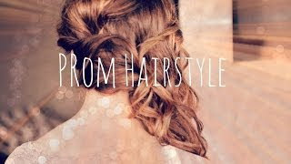Prom Cl Ic Curled Side Swept Hair