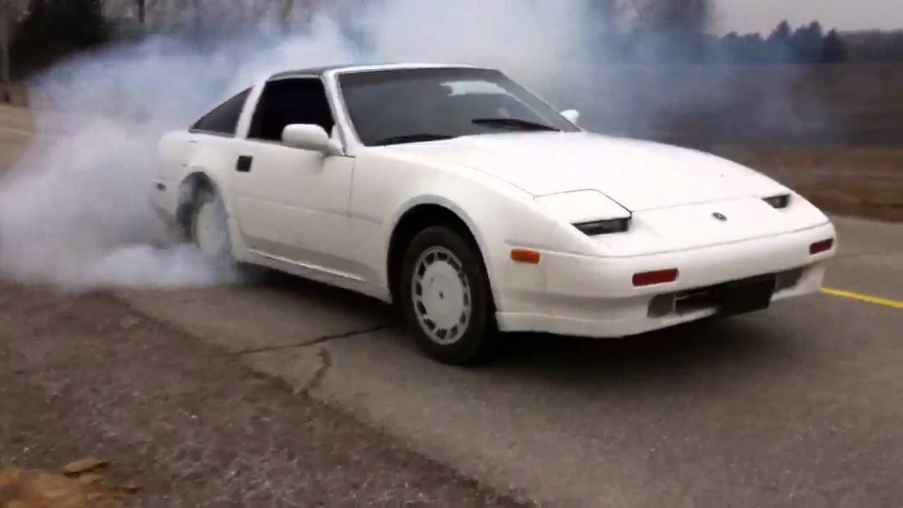 1987 Nissan 300zx supercharged burnout - YouTube
