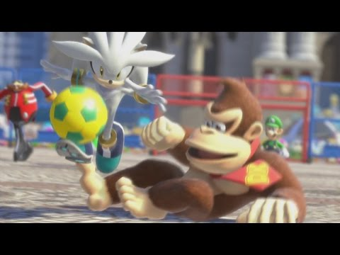 Mario & Sonic at the Rio 2016 Olympic Games (Wii U) - Duel Football All Characters Gameplay