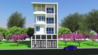 Architecture: Narrow 4-Storey Residential Building