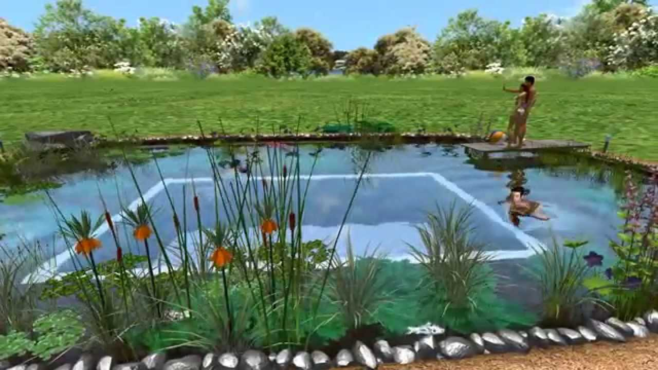 Earthship house with Natural Swimming Pool - YouTube
