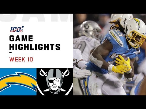 Chargers vs. Raiders Week 10 Highlights | NFL 2019
