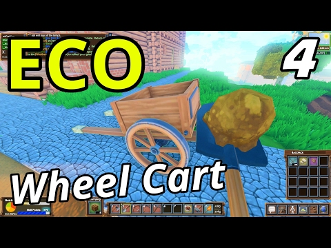 ECO Multiplayer | Ep. 4 | Wood Cart & Road Building! (Eco GangZ Server)