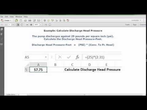 Calculate Discharge Head Pressure - YouTube