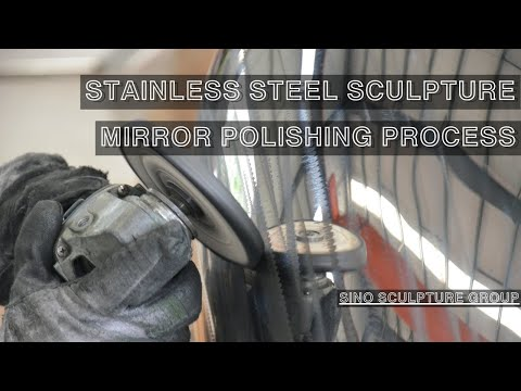 stainless steel sculpture mirror polishing process