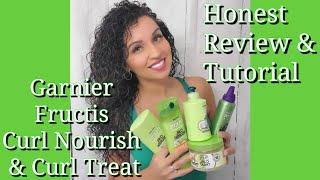 Garnier Fructis Curl Nourish and Garnier Curl Treat Review - YouTube