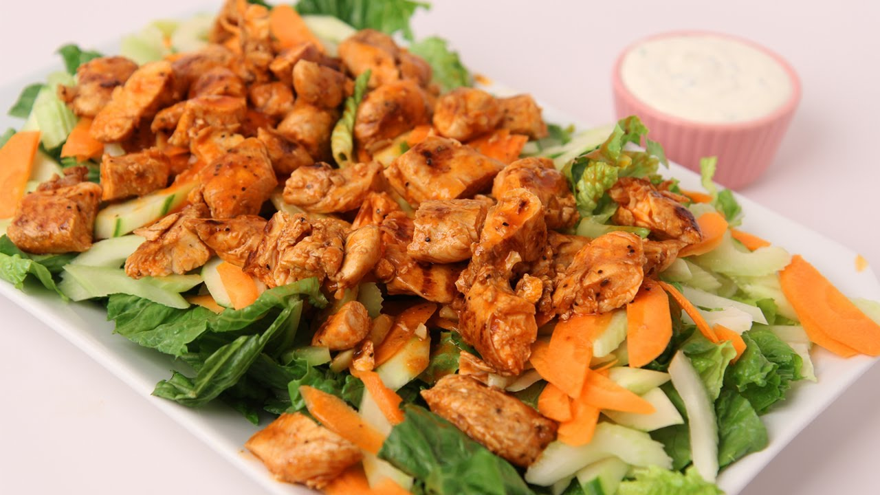 Buffalo Chicken Salad Recipe - Laura Vitale - Laura in the Kitchen Episode 423