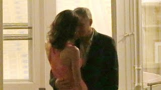 EXCLUSIVE George Clooney and Amal Alamuddin's PDA-Filled Date Night!