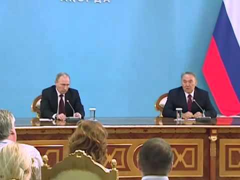 Путин начинает раздражать Назарбаева евразийством