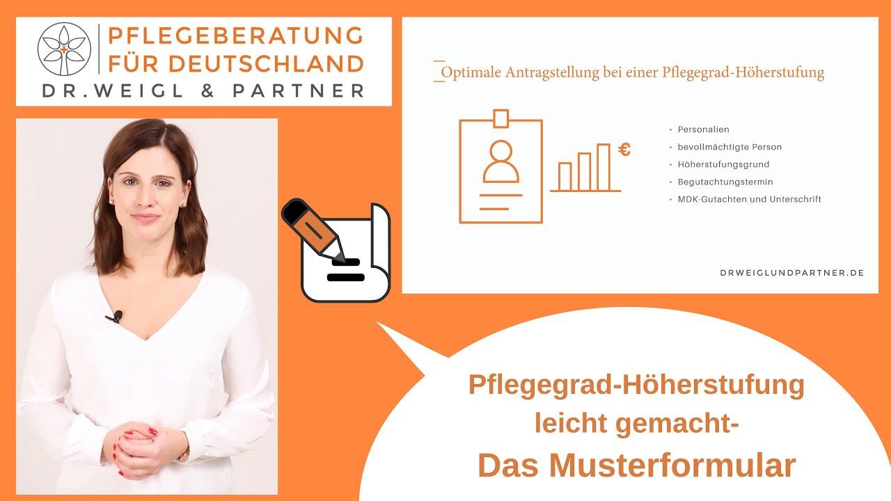 Muster Antrag zu Ihrer Pflegegrad Höherstufung   Dr. Weigl & Partner
