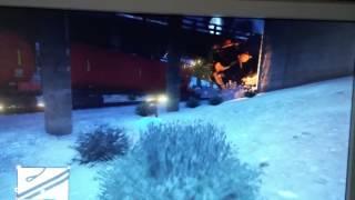 GTA V - Big Dumper Truck vs Train