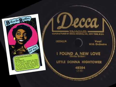 DONNA HIGHTOWER - I've Found A New Love (1952)