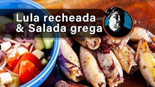Lulas recheadas e salada grega BC9.