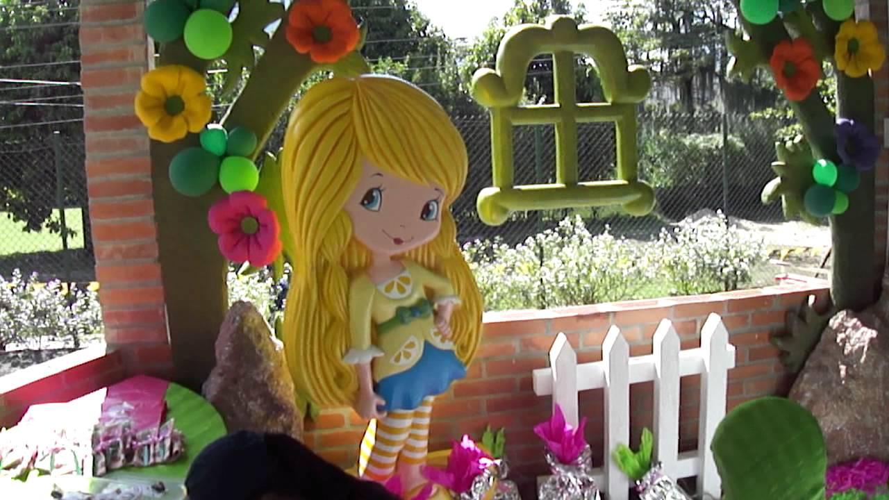Fiesta Tematica Infantil Rosita Fresita Y Sus Amigas