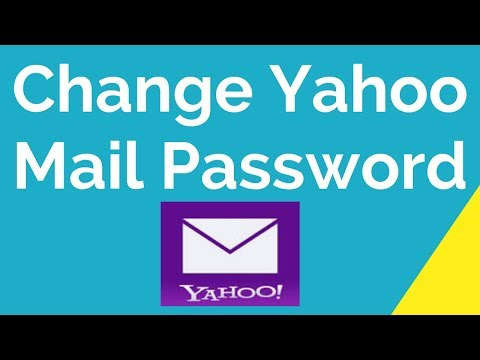 How To Change Yahoo Mail Password?