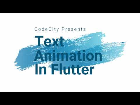 Animated Text in Flutter