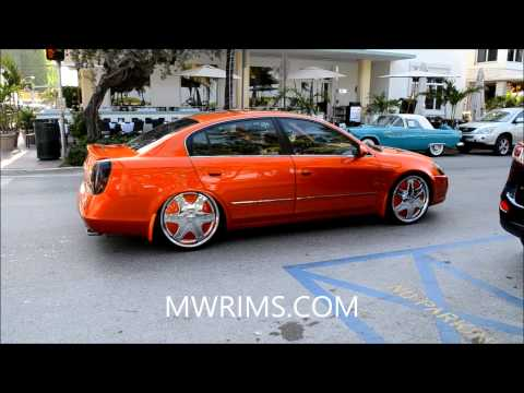 NISSAN ALTIMA BAGGED KANDY PAINT ON DUB FLOATERS SOUTH BEACH MIAMI