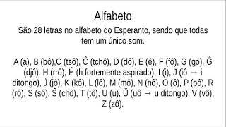 2 – abc em Esperanto