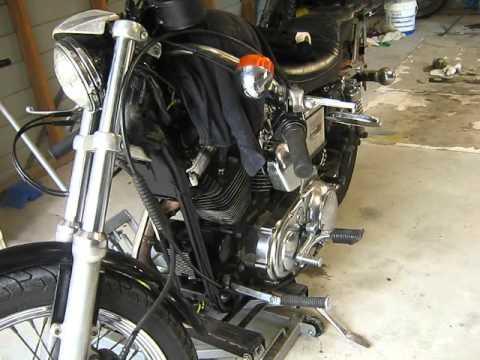 change sportster fork oil 1