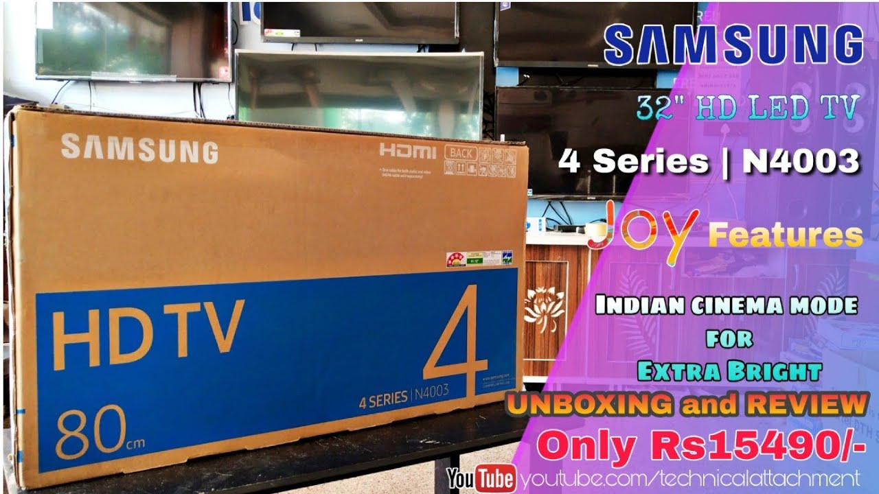 Samsung FH4003 32 inches LED TV unboxing and installation by