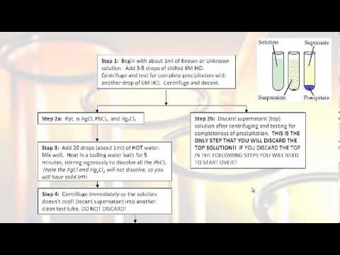 CHEM-111 Analysis of Silver Group Cations pre lab video