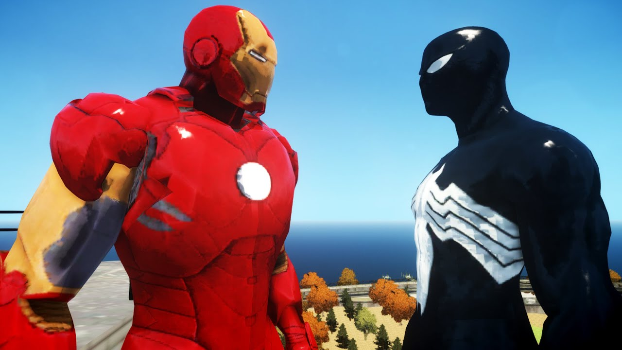 IRON MAN VS BLACK SPIDERMAN - YouTube