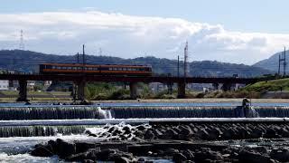 貴重!大和川橋梁を走る近鉄特急