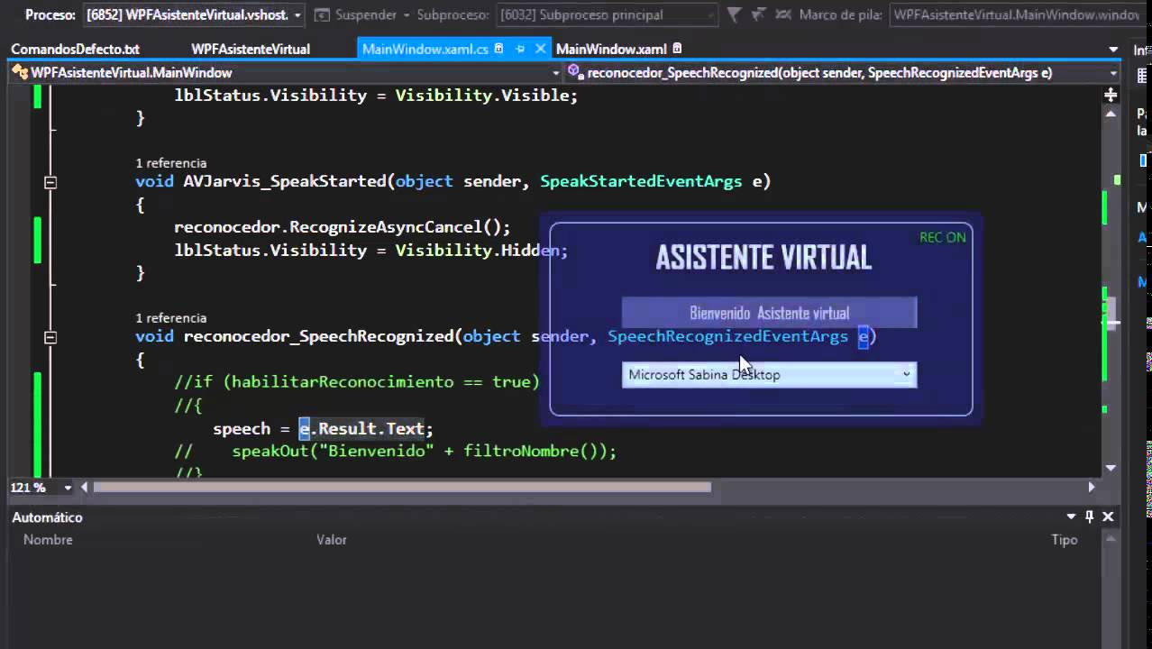 Crea tu Asistente Virtual en C# WPF Resumen y Tips - YouTube