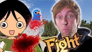 Torgshow - Mädchen kämpft mit Taube!