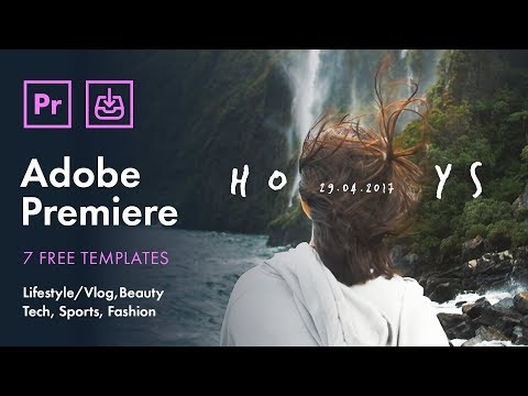 7 FREE Titles / Intros (with Glitches) for Premiere Pro CC 2017 / 2018 #template #intro #title