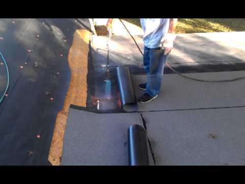 Torch Down Roofing Process Youtube