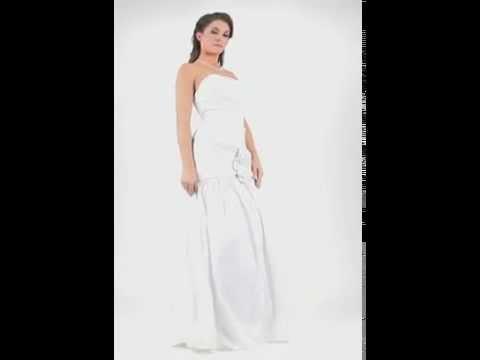 Long formal dress white