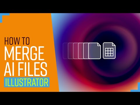 How to merge multiple illustrator files