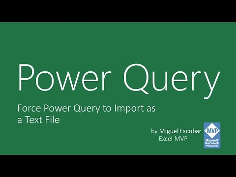 Force Power Query to read as text file (or other format)