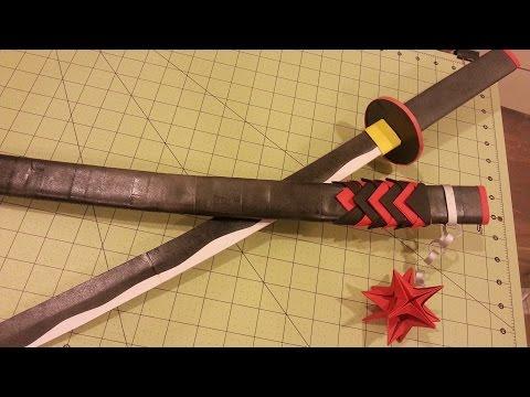 How to Make a Paper Sheath for Katana