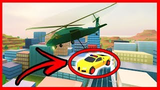 TIP TO LEVANTAR CARS WITH HELICOPTER O JAILBREAK - ROBLOX