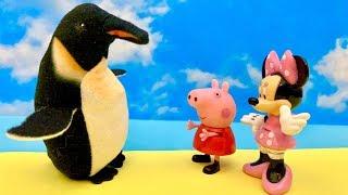 ☺️ Świnka Peppa i Myszka Minnie  Zobacz, jaki duży Pingwinek  Bajka dla dzieci PO POLSKU