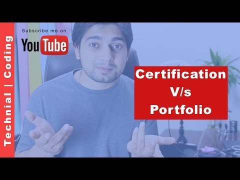 Certification vs portfolio in Information technology