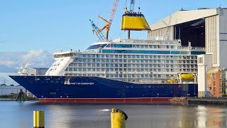 Ship Launch of Cruise Ship SPIRIT OF DISCOVERY at Meyer Werft Shipyard