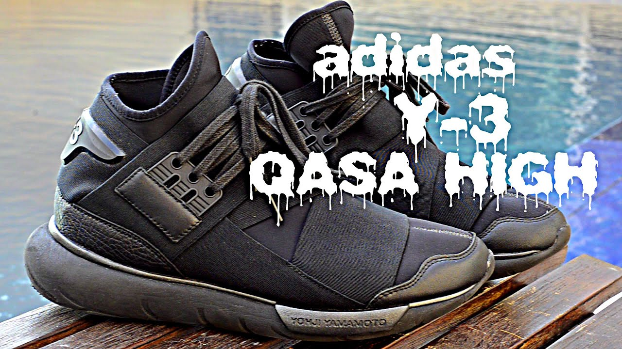 333a459fb Adidas Y-3 Yohji Yamamoto Qasa High Review + On Feet - YouTube