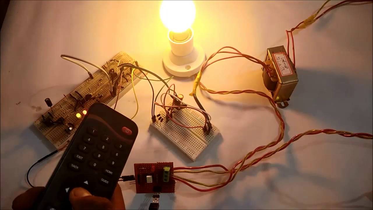 Ir Remote Controlled Triac Ac Light Dimmer Circuit Youtube