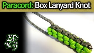 Simple Paracord: Box Lanyard Knot (Square Sinnet Fob)