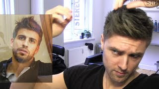 Gerard Piqué men's hair tutorial - fotballer hair - By Vilain work hard Style hard