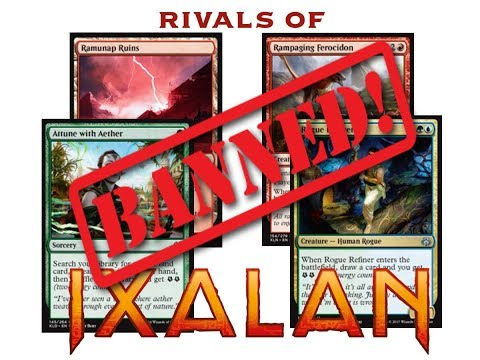MTG Banned Announcement Jan, 15 2018 Discussion and My Opinion