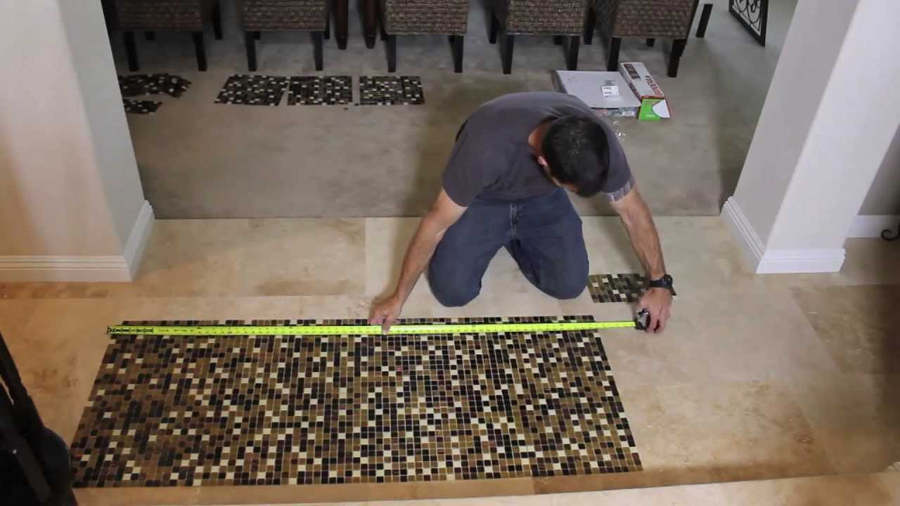 Ceramic tile install no thinset or mastic youtube dailygadgetfo Image collections