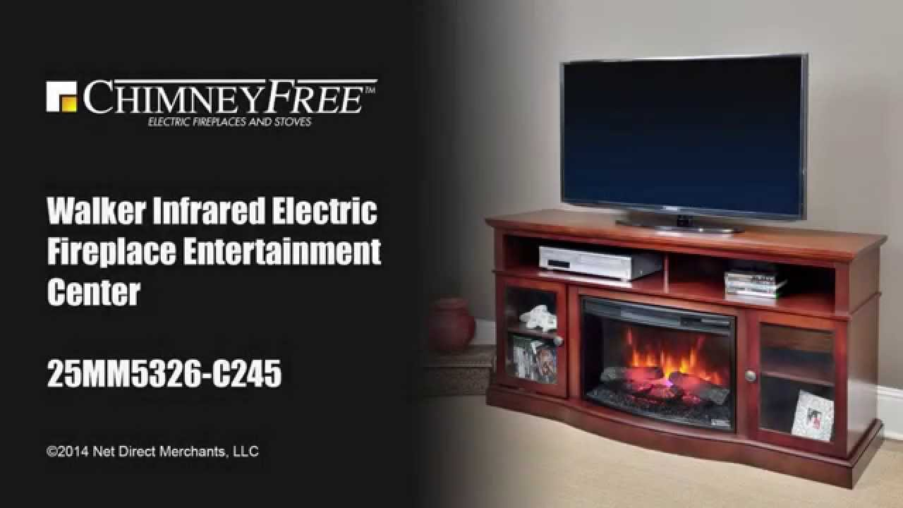 walker infrared electric fireplace entertainment center youtube